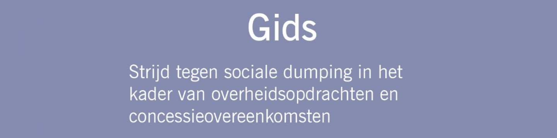 Cover 'Gids - Strijd tegen sociale dumping in het kader van overheidsopdrachten en concessieovereenkomsten'